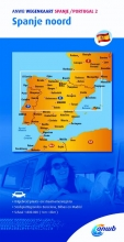 ANWB , ANWB wegenkaart Spanje Portugal 2. Spanje noord