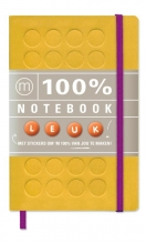 100% Notebook small yellow (6 ex.)