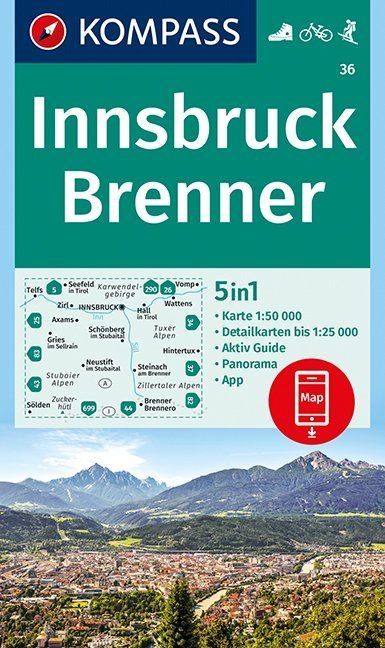,Innsbruck, Brenner 1:50 000