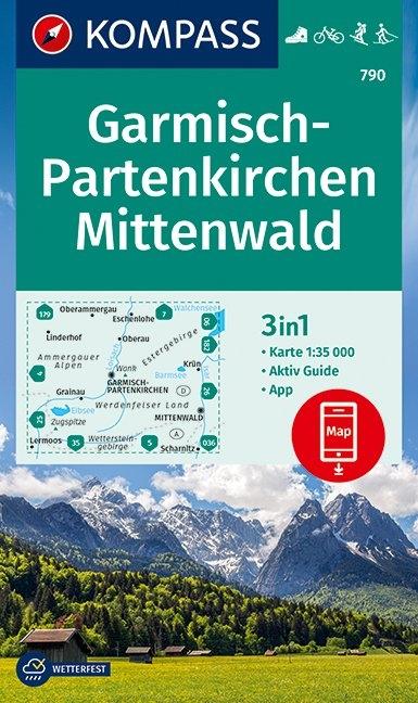,Kompass WK790 Garmisch Partenkirchen