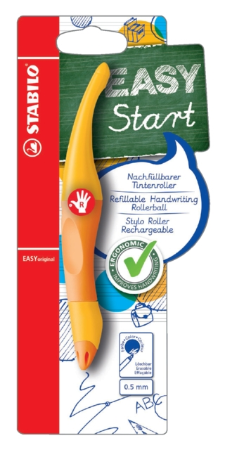 ,Rollerpen STABILO Easyoriginal rechtshandig geel/oranje blister