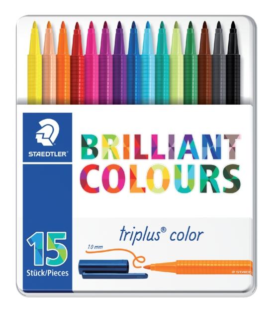 ,Kleurstift Staedtler 323 Triplus color blik à 15 assorti