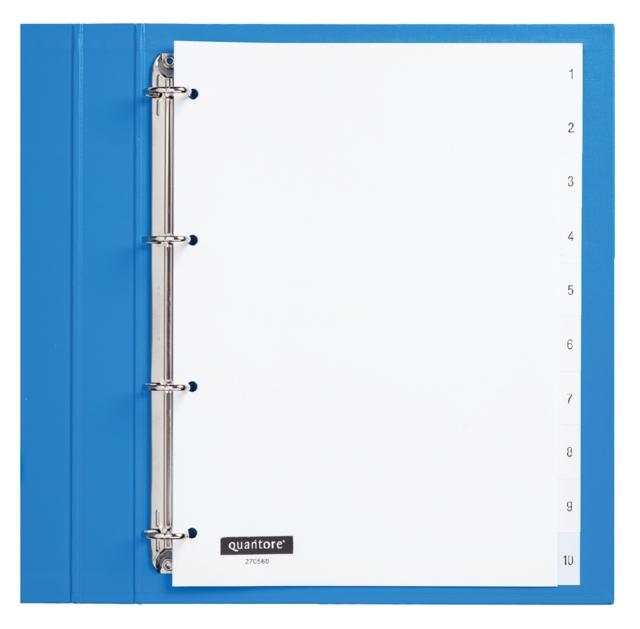 ,Tabbladen Quantore 4-gaats 1-10 genummerd wit PP