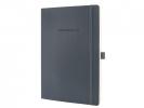 ,notitieboek Sigel Conceptum Pure softcover A4 donkergrijs   gelinieerd