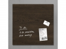 ,glasmagneetbord Sigel Artverum 480x480x15mm Dark Wood