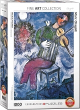 Eur-6000-0852 , Puzzel the blue violinist - marc chagall - eurographics 1000 stuks 48 x 68 cm