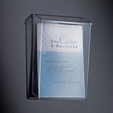 , buitenfolderhouder Sigel wandmodel A4 transparant acryl     voor