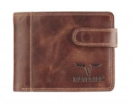 Ma-480-262-33 , Maverick dalian ii rfid-blocking billfold portemonnee leer donkerbruin