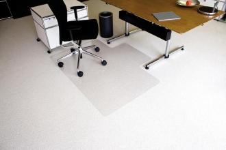 , vloermat Kangaro voor tapijt 120 x 150 cm lip lange zijde   transparant PET 2,1mm/nop 2,1