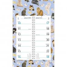 , Omlegkalender week 2022 franciens katten cats&butterflies 21x34