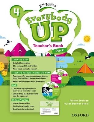 Jackson, Patrick,   Sileci, Susan Banman,   Kampa, Kathleen,   Vilina, Charles,Everybody Up: Level 4. Teacher`s Book Pack with DVD, Online Practice and Teacher`s Resource Center CD-ROM