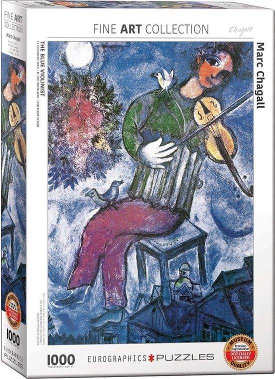 Eur-6000-0852,Puzzel eurographics the blue violinist  marc chagall 1000 stukjes 48 x 68 cm