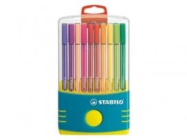 ,Viltstift STABILO Pen 68 ColorParade turquoise etui à 20 kleuren