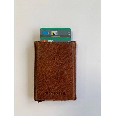 Ma-mon-230-25,Maverick montana slim cardprotector ritssluiting cognac