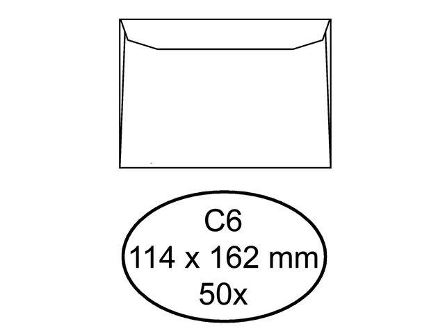 ,Envelop Quantore bank C6 114x162mm wit 50stuks