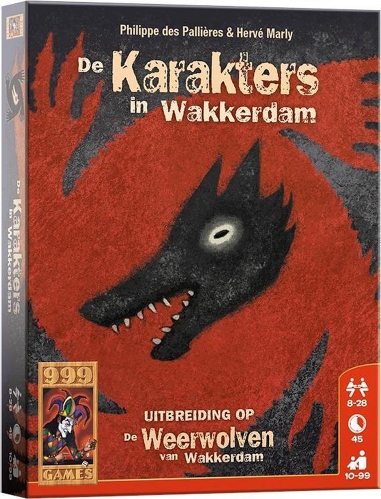999-wee05,Weerwolven van wakkerdam - de karakters in wakkerdam  - uitbreiding - 999 games