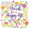 , Words for a happy life 2019 Brosch?renkalender