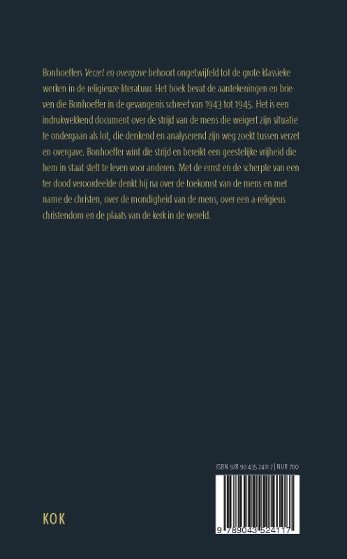 Dietrich Bonhoeffer,Verzet en overgave