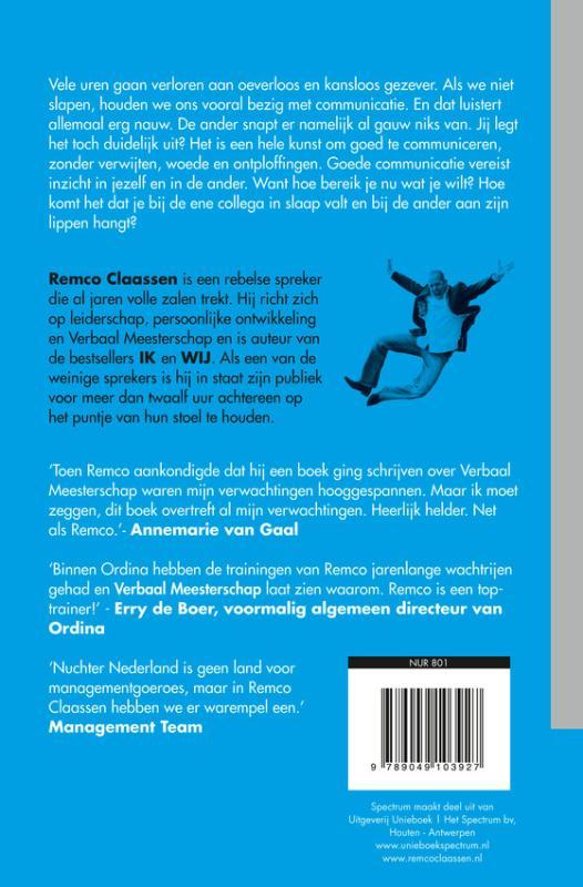 Remco Claassen,Verbaal Meesterschap