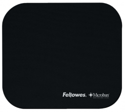 , Muismat Fellowes microban antibacterieel zwart