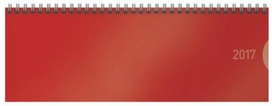 Tischquerkalender Classic Colourlux rot 2017