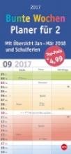 Bunte Wochen. Planer fr 2 - Kalender 2017