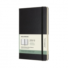 Moleskine Wochen Notizkalender, 18 Monate, 2018/2019, Large/A5, Hard Cover, Schwarz