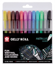 , Gelschrijver Sakura Gelly Roll Metallic glans assorti