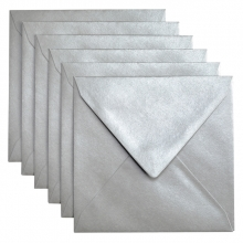 , Envelop Papicolor 140x140mm metallic zilver