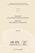 , Reports of judgments and decisions; Recueil des arrets et decisions 2012-IV