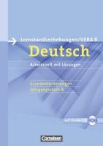 Patzelt, Birgit,Vorbereitungsmaterialien für VERA - Deutsch. 8. Schuljahr. Grundanforderungen A. Arbeitsheft mit Lösungen und Hör-CD