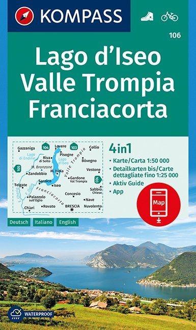 ,Lago d`Iseo, Valle Trompia, Franciacorta 1 : 50 000