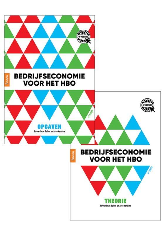 Edward van Balen, Arco Verolme,Bedrijfseconomie voor het hbo, theorie- en opgavenboek