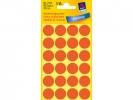 ,Etiket Avery Zweckform 3172 rond 18mm lichtrood 96stuks