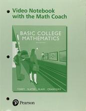 John, Jr. Tobey,   Jeffrey Slater,   Jamie Blair,   Jenny Crawford Video Workbook with the Math Coach for Basic College Mathematics