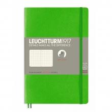 Lt358306 , Leuchtturm notitieboek softcover 19x12.5 cm bullets/dots/puntjes heldergroen