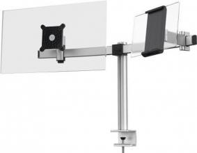 , Monitorarm Durable met klem voor 1 scherm en 1 tablet