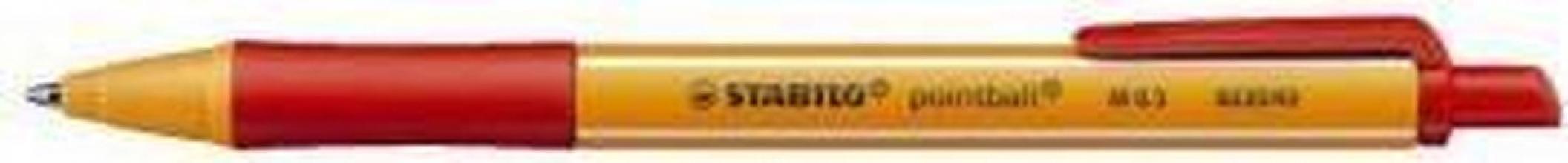 , Balpen STABILO Pointball 6030/40 rood