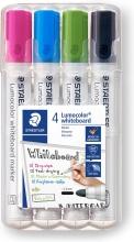 , Viltstift Staedtler Lumocolor 351 whiteboard set à 4 stuks assorti