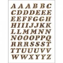 , Etiket Herma 4192 8mm letters A-Z goudfolie 61stuks