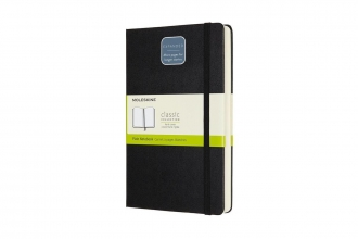 , Moleskine Notebook Expanded Large Plain Black Hard Cover