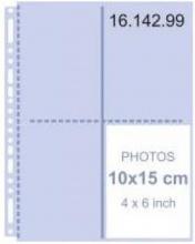 , Fotointerieur 23 rings map 10x15 transp 10 stuks