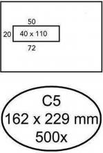 , Envelop Quantore 162x229mm venster 4x11cm links 500stuks