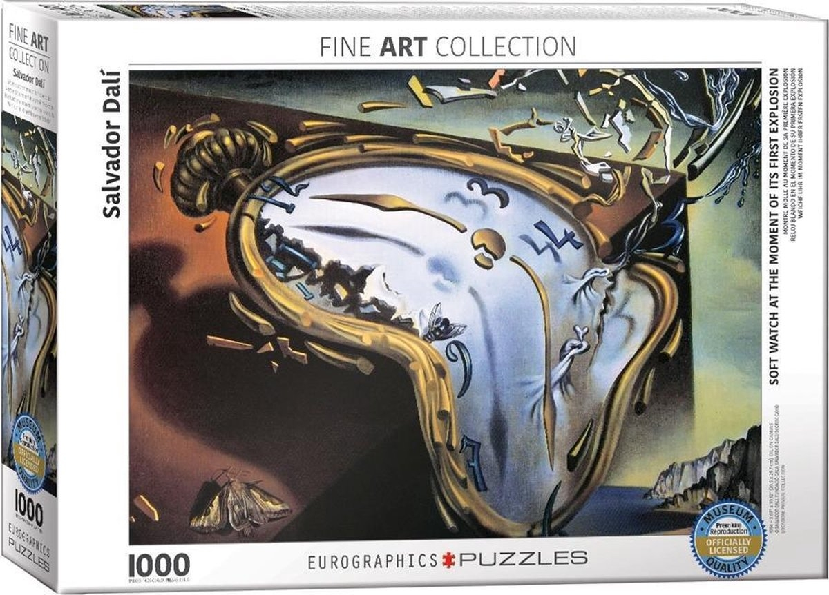 Eur-6000-0842,Puzzel soft watch at the moment of it`s first explosion- s dali - 1000 stuks