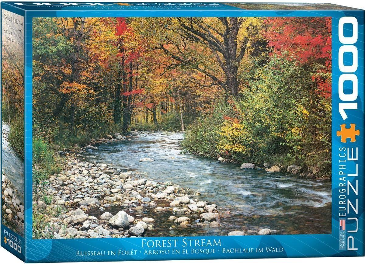 Eur-6000-2132,Puzzel forest stream eurographics 1000 stuks