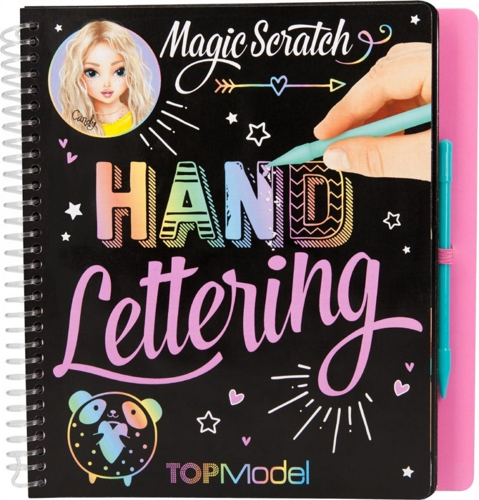 ,Topmodel magic-scratch book hand lettering