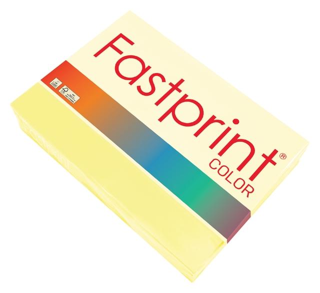 ,Kopieerpapier Fastprint A4 80gr geel 500vel