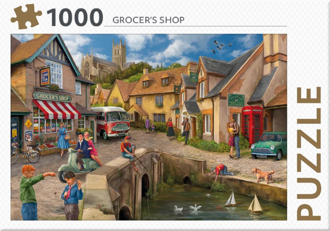 ,Rebo legpuzzel 1000 stukjes - Grocers Shop