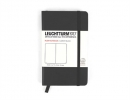 , Leuchtturm notitieboek pocket 90x150 blanco zwart
