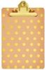 Mos-80802 , Klembord A4 Roze Met Gouden Stippen En Klem
